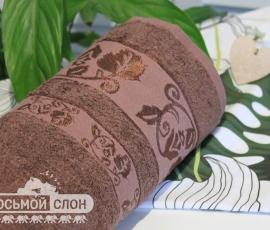 Полотенце Бамбук 70% 70х140 Шоколад