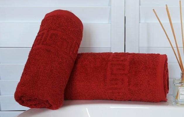 Банное полотенце махровое 70х140 Спелый гранат