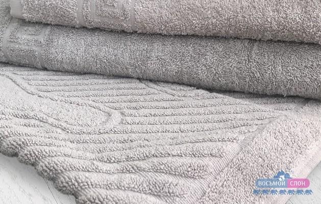 Полотенце махровое для ног 50х70 Серое