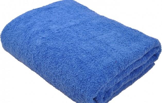 Простыня махровая 190х220 Синий
